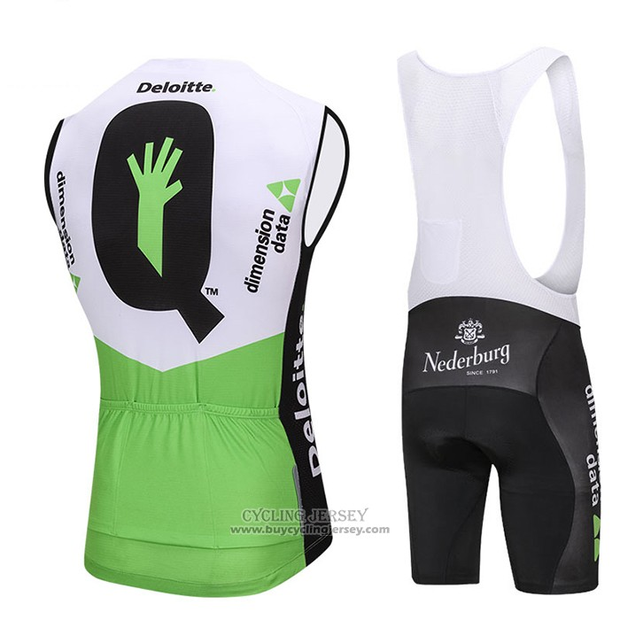 2018 Wind Vest Dimension Data White and Green