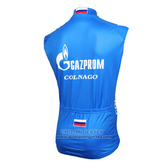 2016 Wind Vest Gazprom Rusvelo Colnago Blue And White