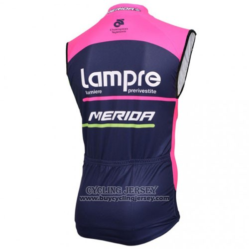 2016 Wind Vest Lampre Blue And Fuchsia