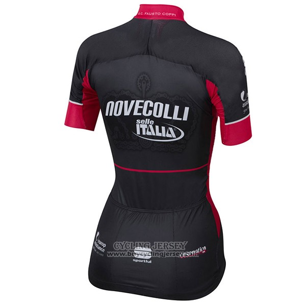 2017 Jersey Women Nove Colli Black And Red